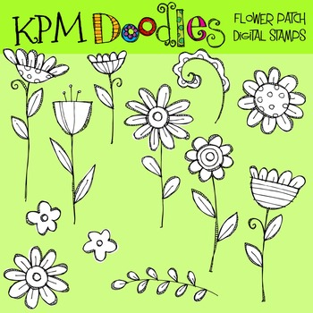 KPM Teal Flower Patch COMBO