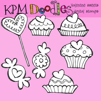 KPM Valentine Sweets stamps