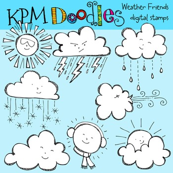 KPM Weather Friends Stamps