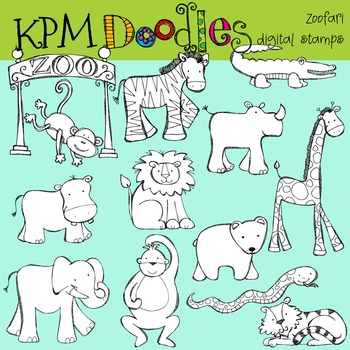 KPM Zoofari Stamps