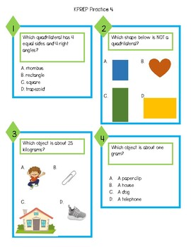 KPREP Math Practice Assessment 4