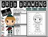 KRISTOFF from FROZEN (Draw with Shapes) Grid Drawing - Ear