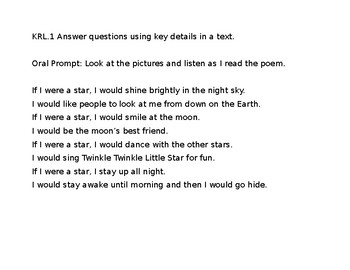 KRL.1 If I Were a Star Read Aloud and Questions