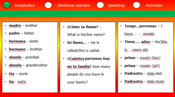 KS1 Spanish Family: Lesson 3