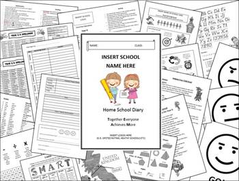 KS2 Reading Journal and Home School Diary