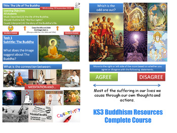 KS3 Buddhism - Complete Resource for 10 Lessons! (Religious Studies)