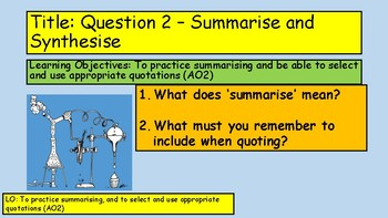KS3 English Language Summarising Practice