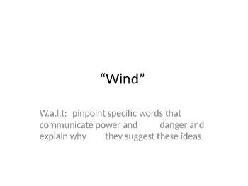 "KS3, KS4, unseen poetry, reading, analysis, ""Wind"", Ted Hughes"