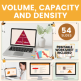 Volume, Capacity & Density - Grade 6, Year 7, Key stage 3