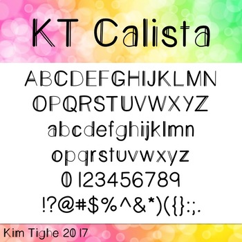 KT Calista Font: Commercial and Personal Use