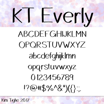 KT Everly FREEBIE Font: Commercial and Personal Use