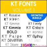 KT Fonts ~ GROWING BUNDLE ~ Volume I #taxespaid17