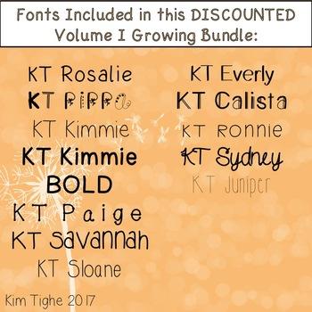 KT Fonts ~ GROWING BUNDLE ~ Volume I