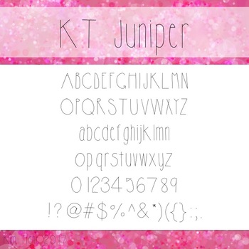 KT Juniper Font: Commercial and Personal Use