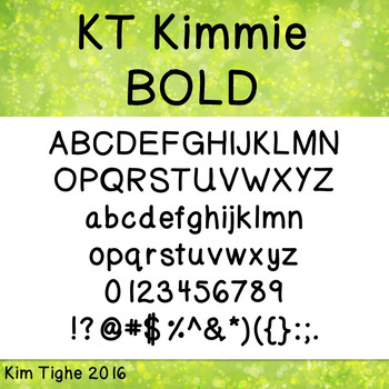 KT Kimmie BOLD Font: Commercial and Personal Use