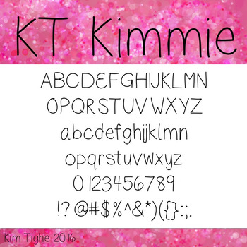 KT Kimmie Font: Commercial and Personal Use