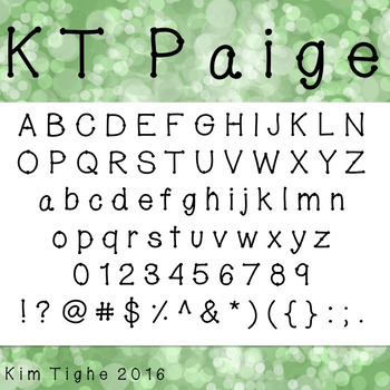 KT Paige Font: Commercial and Personal Use