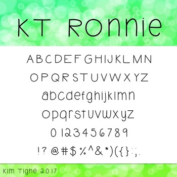KT Ronnie Font: Commercial and Personal Use
