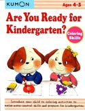 KUMON - Are You Ready for Kindergarten? - 4-5y - Coloring Skills