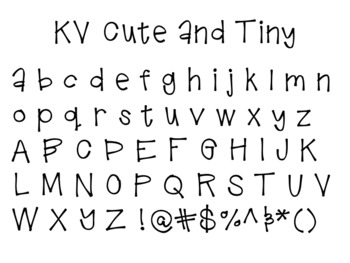 KV Cute and Tiny Font