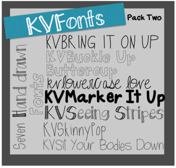 KVFonts - Pack Two!