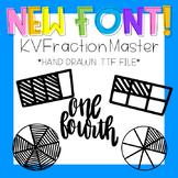 KVFractionMaster Font (Fraction Circles, Tiles, Words, etc.)