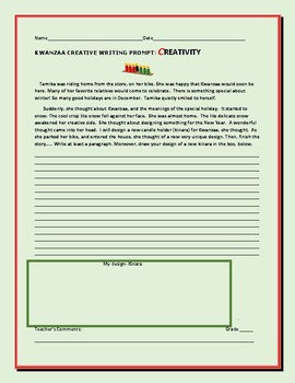 KWANZAA CREATIVE WRITING PROMPT