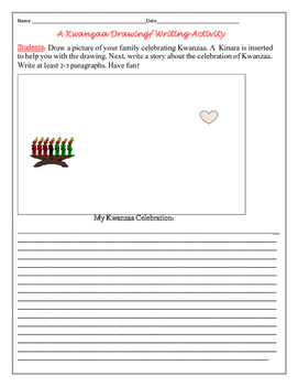 KWANZAA DRAWING & WRITING ACTIVITY