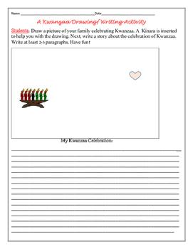 KWANZAA DRAWING & WRITING ACTIVITY