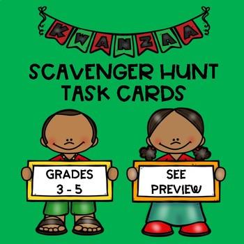 KWANZAA Scavenger Hunt Task Cards