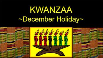 KWANZAA - music unit - Power Point - Songs, Drumming, Maps, Background- 24 pages