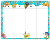 KWHL Table Bubble Guppies 30x24