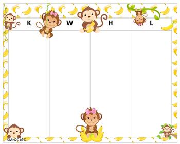 KWHL Table Monkeys 30x24