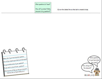 KWHLAQ Inquiry Booklet for Students