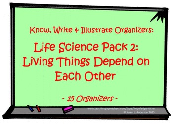 KWI Organizer - Life Science Pack 2:  Living Things Depend On Eachother