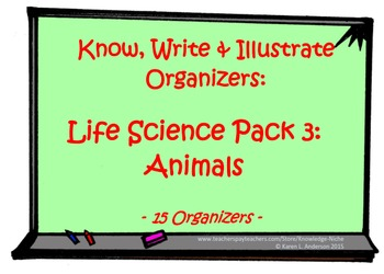 Do You Get It?  Life Science Organizer Pack 3: Animals