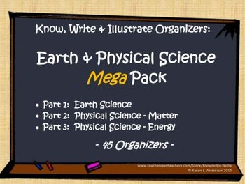 KWI Organizer Mega Pack - Earth & Physical Science