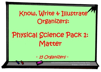 KWI Organizer - Physical Science Pack 1:  Matter
