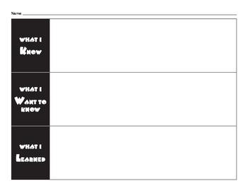 Simple KWL Chart - FREEBIE