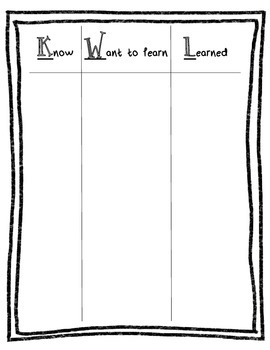 KWL - Schema Chart
