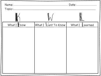 KWL Chart FREEBIE