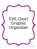 KWL Chart Graphic Organizer