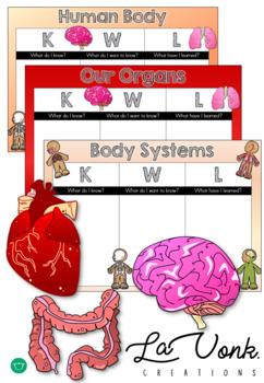 KWL Chart - Human Body - Organs - Systems