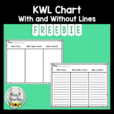 KWL Chart With and Without Lines