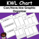 KWL Chart and Can Have and Are Graphic Organizer