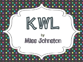 KWL Chart {freebie}
