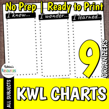 KWL Charts - Graphic Organizers