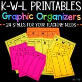 KWL Charts - Graphic Organizers - Printable