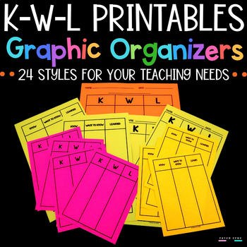 Kwl Charts Graphic Organizers Printable By Raven R Cruz Tpt