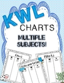 KWL Charts - Multiple Subjects